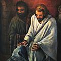 Jesus Healing Beggar by Donna Tucker