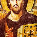 Jesus Icon At Saint Catherine Monastery by Munir Alawi