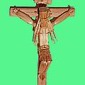 Jesus On The Cross In Mexico 1925 by Carl Deaville