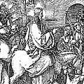 Jesus On The Donkey Palm Sunday Etching by