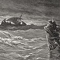 Jesus Walking On The Sea John 6 19 21 by Gustave Dore