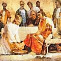 Jesus Washing Apostle's Feet by Dan Sproul