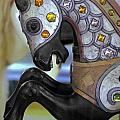 Jeweled Carousel Prancing Horse by Rene Sheret
