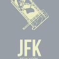 Jfk Airport Poster 1 by Naxart Studio