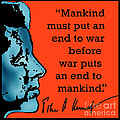 Jfk Anti War Quote by Scarebaby Design