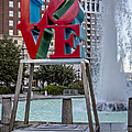 Jfk Plaza Love Park by Susan Candelario