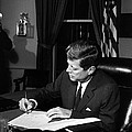 Jfk Signing The Cuba Quarantine by War Is Hell Store