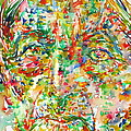 Jiddu Krishnamurti Watercolor Portrait.2 by Fabrizio Cassetta