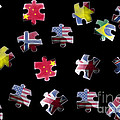 Jigsaw Puzzle Flag Pieces by Simon Bratt Photography LRPS