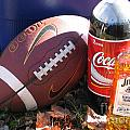 Jim Beam Coke And Football by Jason O Watson
