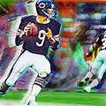 Jim Mcmahon With Walter Payton Chicago Bears by Tony Rubino