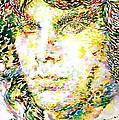 Jim Morrison Watercolor Portrait.2 by Fabrizio Cassetta
