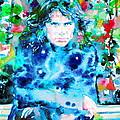 Jim Morrison Watercolor Portrait.3 by Fabrizio Cassetta