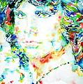 Jim Morrison Watercolor Portrait.5 by Fabrizio Cassetta