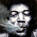 Jimi Hendrix-burning Lights-2 by Reggie Duffie