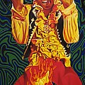 Jimi Hendrix Fire by Joshua Morton