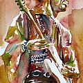 Jimi Hendrix Playing The Guitar Portrait.3 by Fabrizio Cassetta