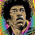 Jimi Hendrix Pop Art by Jim Zahniser
