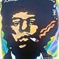 Jimi Smoking by Tony B Conscious