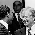 Jimmy Carter And Anwar Sadat 1980 by Mountain Dreams