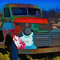 Jimmy In Taos - Abstract by Charles Muhle