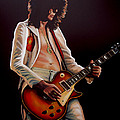 Jimmy Page In Led Zeppelin Painting by Paul Meijering