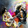 Jimmy Page And Robert Plant Led Zeppelin by Miki De Goodaboom