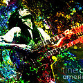Jimmy Page - Led Zeppelin - Original Painting Print by Ryan Rock Artist