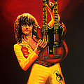 Jimmy Page Painting by Paul Meijering