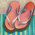 Pink Flip Flops by Jen Norton