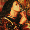 Joan Of Arc Kissing The Sword by Dante Gabriel Charles Rossetti