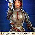 Joan Of Arc War Stamps Poster 1918 by Mountain Dreams