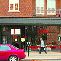 Joblo Restaurant Steakhouse Rue Wellington Verdun Montreal Cafe City Scenes Carole Spandau by Carole Spandau
