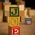 Joe - Alphabet Blocks by Edward Fielding