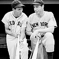Joe Dimaggio And Ted Williams by Gianfranco Weiss