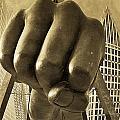 Joe Louis Fist In Detroit by John McGraw