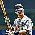 Joe Mauer Painting by Florian Rodarte