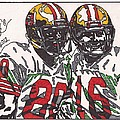 Joe Montana And Jerry Rice by Jeremiah Colley
