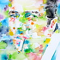 Joe Strummer - Watercolor Portrait by Fabrizio Cassetta