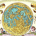 Johannes Hevelius Moon Map 1647 by Science Source