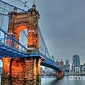 John A Roebling Suspension Bridge Cincinnati Ohio by Jeremy Lankford