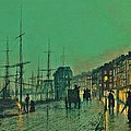 John Atkinson Grimshaw Shipping On The Clyde 1881 by Movie Poster Prints