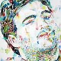 John Belushi Smoking - Watercolor Portrait by Fabrizio Cassetta