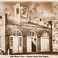John Browns Fort - Harpers Ferry West Virginia - Modern Day Sepia by Michael Mazaika