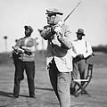 John D. Rockefeller Golfing by Underwood Archives
