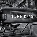 John Deere Tractor Bw by Susan Candelario