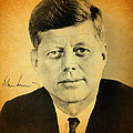 John F Kennedy Portrait and Signature by Design Turnpike
