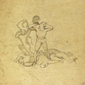 John Flaxman, British 1755-1826, Figure Standing by Litz Collection