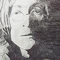 John Lennon Pencil by Jimi Bush