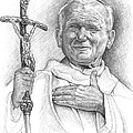 John Paul II. Pope by Vlado Ondo